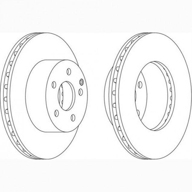 Glober Тормозной диск передний/ Toyota Auris