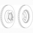 Glober Тормозной диск передний/ VW Transporter IV