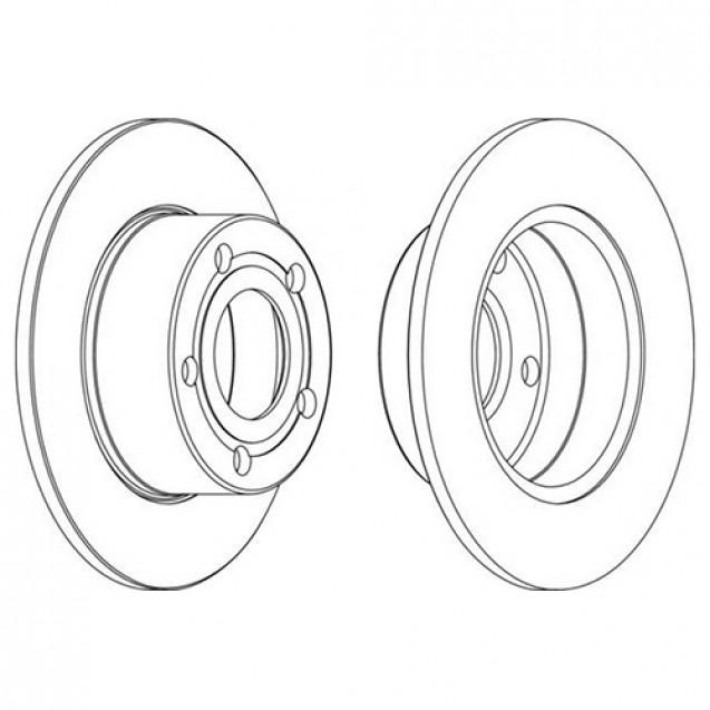 Glober Тормозной диск задний/ Audi 100