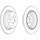 Glober Тормозной диск задний/ BMW 5 (E34)