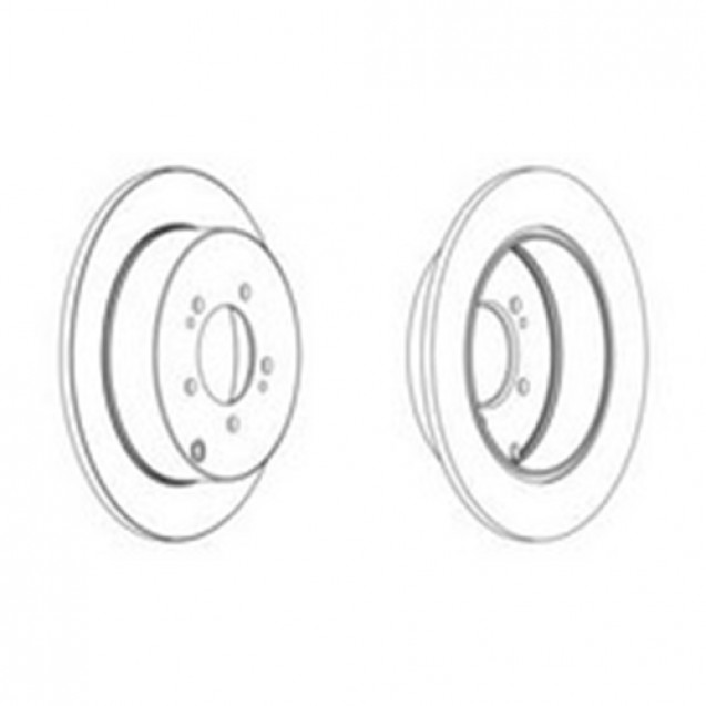 Glober Тормозной диск задний/ Citroen C4 Aircross