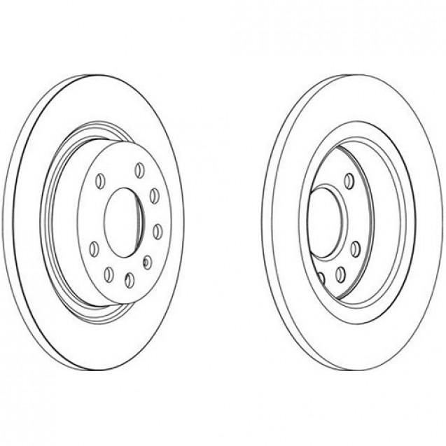 Glober Тормозной диск задний/ Fiat Croma