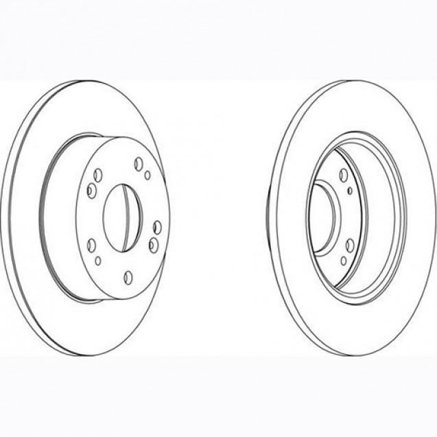 Glober Тормозной диск задний/ Honda Accord VIII Tourer
