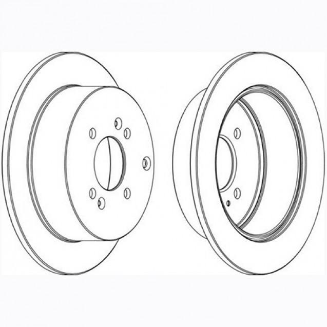 Glober Тормозной диск задний/ Hyundai Accent III