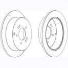 Glober Тормозной диск задний/ Hyundai IX35