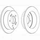 Glober Тормозной диск задний/ Hyundai Tucson