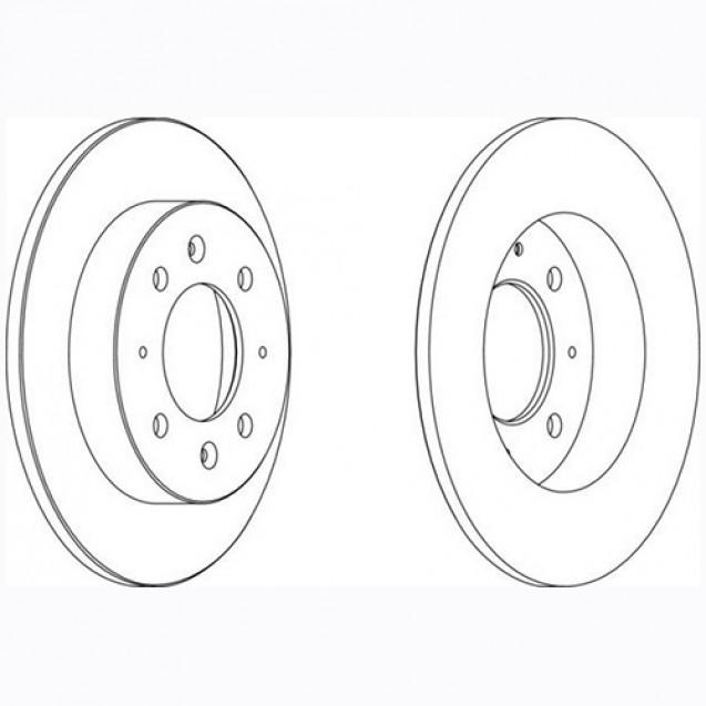 Glober Тормозной диск задний/ KIA Cerato