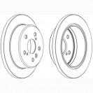 Glober Тормозной диск задний/ Lexus ES