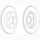 Glober Тормозной диск задний/ Mazda 3