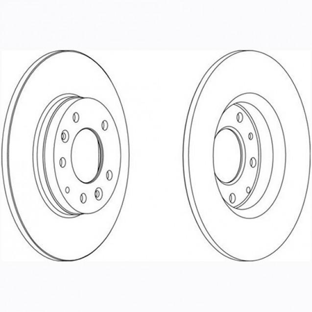 Glober Тормозной диск задний/ Mazda 6
