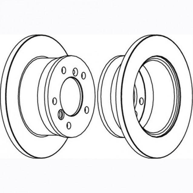 Glober Тормозной диск задний/ Mercedes-Benz Sprinter 3-T