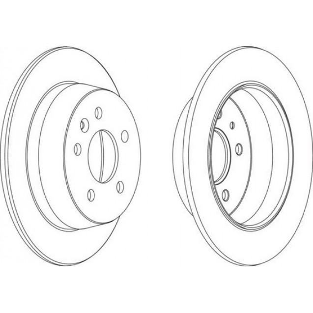 Glober Тормозной диск задний/ Mercedes-Benz V-Class