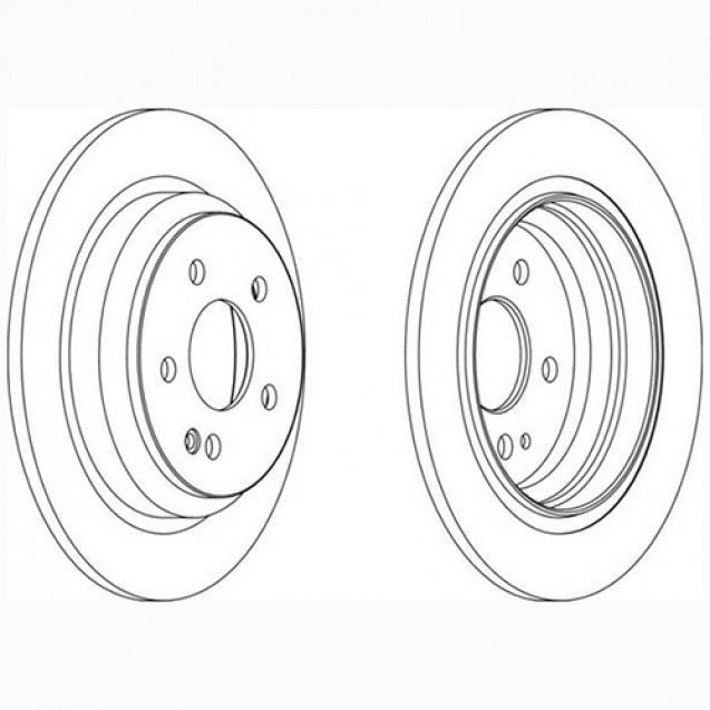 Glober Тормозной диск задний/ Mercedes-Benz Viano