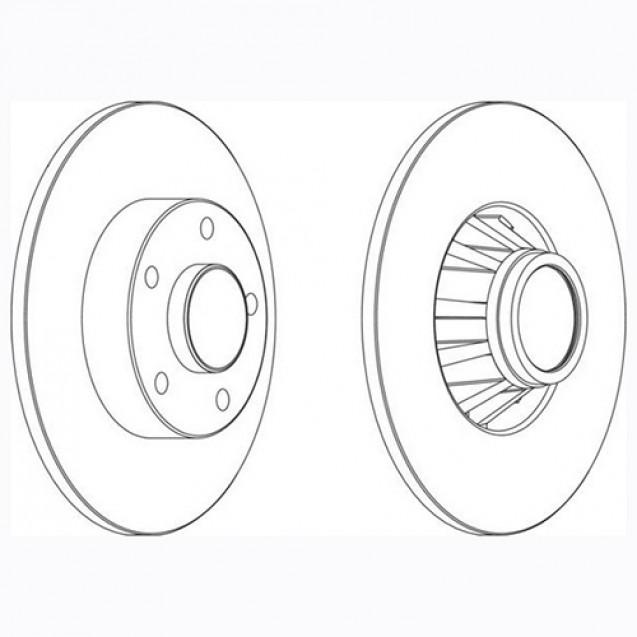 Glober Тормозной диск задний/ Nissan Primastar