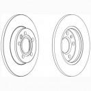 Glober Тормозной диск задний/ VW Transporter IV