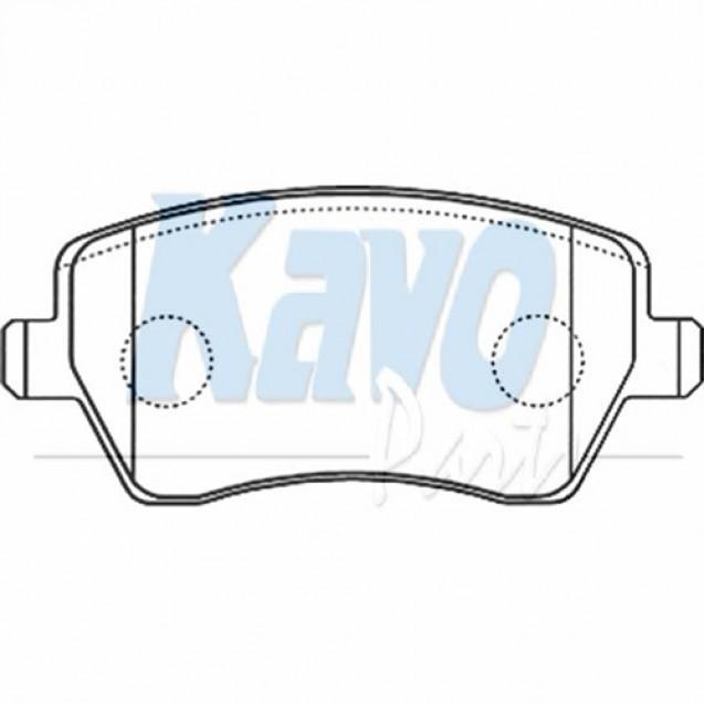 KAVO Тормозные колодки дисковые/ Nissan Micra