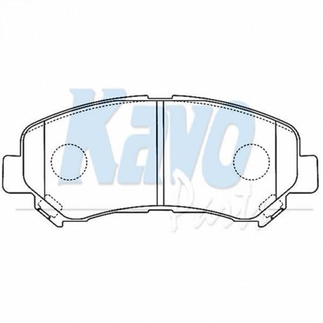 KAVO Тормозные колодки дисковые передние/ Nissan Qashqai