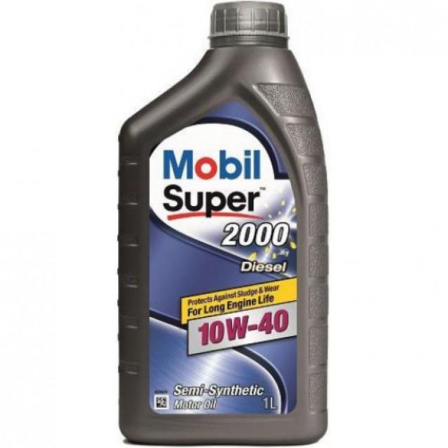 Mobil 1 Super 2000 Diesel 10W40 Полусинтетическое масло 1l
