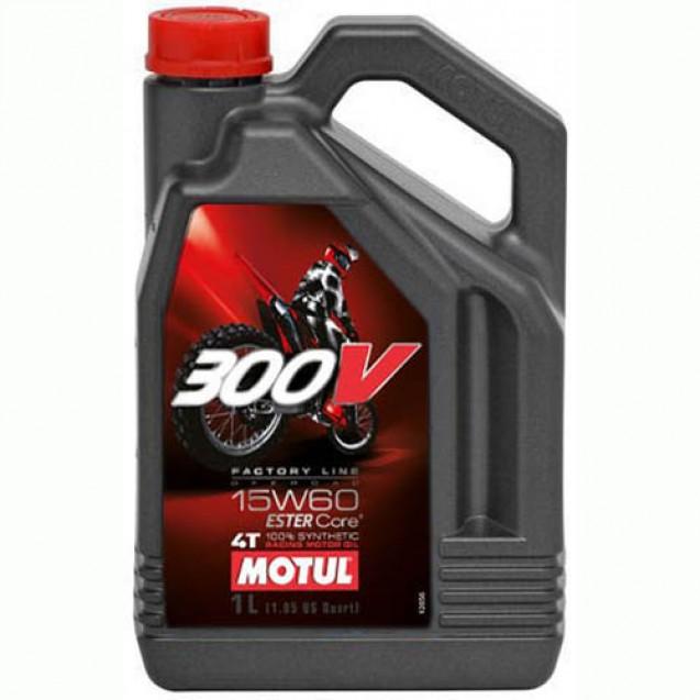 Motul 300V 4T FACTORY LINE OFF ROAD SAE 15W60 Синтетическое масло 4l