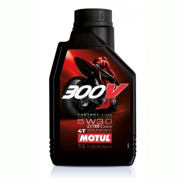Motul 300V 4T FACTORY LINE SAE ROAD RACING 5W30 Синтетическое масло 1l