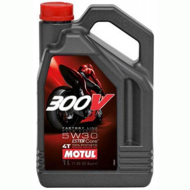 Motul 300V 4T FACTORY LINE SAE ROAD RACING 5W30 Синтетическое масло 4l